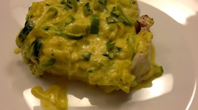 Bakalar s curry-ijem i porilukom