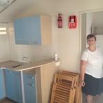 Interijer mobilne kućice - kuhinja