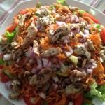 Marinirana piletina sa šarenom salatom